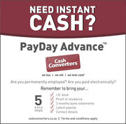 payday advance against your next salary at cashconverters menlyn park